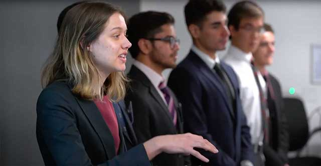 Video of students presenting on Clinic Projects Day